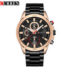 CURREN Mens Fashion Sport Watches Stainless Steel Analog Quartz Wristwatch 8275 image