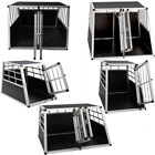 Single/Double Door Aluminium Dog Cat Crate Cage Transport Travel Carrier Box for sale  United Kingdom