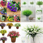 4 Types Artificial Flowers Fake Plants Grass Plastic In/outdoor Garden Lily,