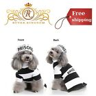 Prisoner Pet Costume With Hat For Halloween Cosplay Small Dogs Pooch Puppy Cat