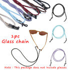 Solid Color Leather Woven Glasses Adjustable Neck Strap Rope Band Eyeglass Cord