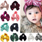 Velvet Big Bow Cute Hair Band Wrap Turban Top Knot Headband For Newborn Baby Kid