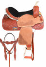 Premium Pleasure Trail Western Leather Used Ranch Saddle Horse Tack Set 15 16 17