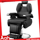 Classic Hydraulic Recline Hair Salon Iron Leather Sponge Barber Chair