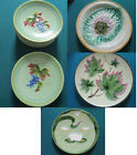 ROYAL CROWN /ZELL GERMANY MAJOLICA GRAPES WATER LILY BEGONIA LEAF PLATE PLATTER