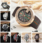 Luxury Crystal Leather/Silicone Strap Men Women Bear G Style Quartz Big Watch image