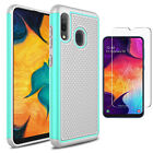 For Samsung Galaxy A50 A20 A10E A30 Phone Case Cover With Glass Screen Protector