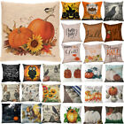 Fall Halloween Pillow Cases Linen Sofa Pumpkin ghosts Cushion Cover Home Decor image