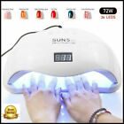 72W SUN5 Pro UV Lamp LED Nail Lamp Nail Dryer For All Gels Polish Sun Light Infr