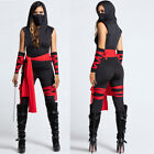 One-piece Halloween Sleeveless Black Hooded Jumpsuit Cosplay Costume For Women