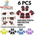 Kids Youth Bike Rollerblade Skate Knee Pad Elbow Pads Guards Protective Gear Set image