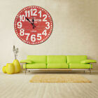 USA DIY Vintage Rustic Wooden Wall Clock Antique Shabby Retro Home Kitchen Decor