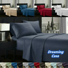 Egyptian Comfort Deep Pocket Bed Sheet Set Fitted Flat sheets 1800 Count 6H image