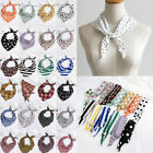 33*85cm Small Silk Scarf Dot Print Head Neck Triangle Neckerchief Hair Tie Band