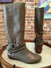 B Makowsky Rebay Taupe Leather Slouchy Boots New