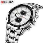 CURREN Men Business Watches Stainless Steel Watch Quartz Wristwatch 8023 image