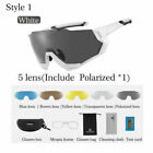 US ROCKBROS Bike Polarized Goggles Photochromic Cycling Glasses 5 Len Sunglasses
