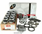 Enginetech RCC364EP Engine Rebuild Overhaul Kit Pistons Chrome Rings Gaskets