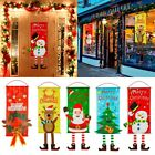 Merry Christmas Ornament Santa Claus Banner Flag Door Window Hanging Xmas Decor