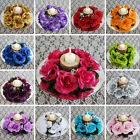 16 Artificial ROSES FLOWERS CANDLE RINGS Centerpieces Wedding Party Flowers SALE