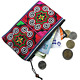 Handmade Coin Purse Small Embroidered Boho Change Pouch Unique Coin Cotton photo