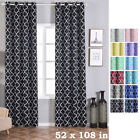 Lattice Design 52 x 108-Inch Window Drapes Curtains 2 Panels with Grommet Top