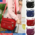 Women Ladies Large Multi Pocket Messenger Cross Body Handbag Bag Shoulder Bag US image