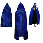 Halloween Party Witch Velvet Cloak Adult Hooded Cape Wedding Robe Costume NEW