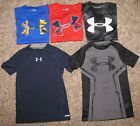 Under Armour Shirt Boy's XS Short Sleeve Loose Fit and Fitted
