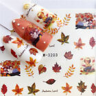 Christmas Nail Water Decals Flower Maple Leaves Nail Art Transfer Stickers Tips