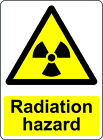 WARNING CAUTION RADIATION HAZARD OSHA DECAL SAFETY SIGN STICKER 3M USA MADE