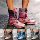 Women Ladies Fashion Motorcycle Boots PU Leather Ankle Boots Warm Fashion Shoes