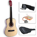 Beginners Guitar Acoustic with Guitar Case Strap Tuner&Pick Steel Strings 38''