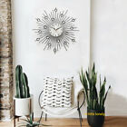 Hanging Pointer Bedroom Iron Wire Low Noise Wall Clock Round Durable Decorative