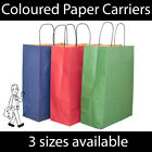 Coloured Kraft Twist Handle Paper Carrier Bags Shopping Christmas Gifts STRONG