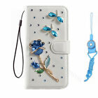 #3 Bling Crystal Diamonds PU leather flip slots wallet case cover For Alcatel