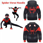 Spider-Man: Into the Spider-Verse Miles Morales 3D Kids Boy Hoodie Sweater Coat