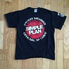 Simple Plan Official Crew / 6 Years Black Cotton Shirt Medium