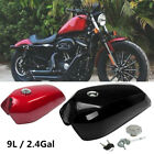 9L/2.4 Gallon Motorcycle Bike Cafe Racer Vintage Fuel Gas Tank &Cap Switch Steel $142.84 USD on eBay