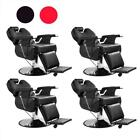 4X Recline Heavy Duty Salon Hydraulic Barber Chair Spa All Purpose Black / Red