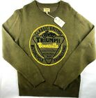 NWT NEW Lucky Brand Men's Triumph Motorcycles Bonneville Green Knit Sweater $59.97 USD on eBay