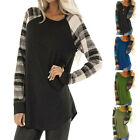 Fashion Womens New Stripe Casual Top T Shirt Ladies Loose Long Sleeve Top Blouse