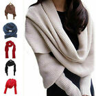 Kyпить Women Knitted Sweater Tops Warm Knitted Scarf with Sleeve Wrap Shawl Scarves HOT на еВаy.соm