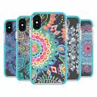 MICKLYN LE FEUVRE MANDALA 5 BLUE SHOCKPROOF BUMPER CASE FOR APPLE iPHONE PHONES