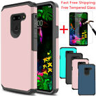 For LG G8 ThinQ/G820Shockproof Armor Case Hybrid Bumper TPU Cover+Tempered Glass