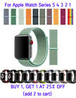 Woven Nylon Band For Apple Watch Sport Loop iWatch Series 5/4/3/2/1 38mm-44mm image