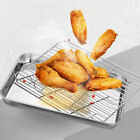 Food Oven Tray Baking Cooker Cooking Oil Drain Stainless Steel Cooling Rack US