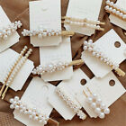 Women Lady Pearl Hair Clip Hairpin Comb Bobby Pin Barrette Headdress Accessories image