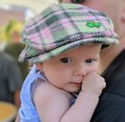 Girls Plaid Newsboy 100 Wool Kid Child Cap Baby Gift Wedding Girl Pink 4 sizes