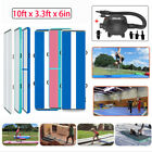 10FT Airtrack Inflatable Air Track Home Gymnastics Tumbling Mat GYM + Pump image
